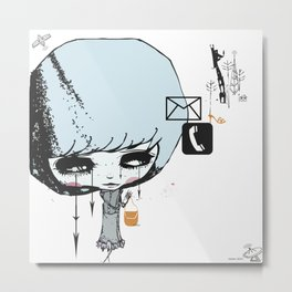 you kill me for XOXO Metal Print