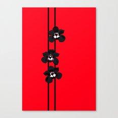 Black Orchids Canvas Print
