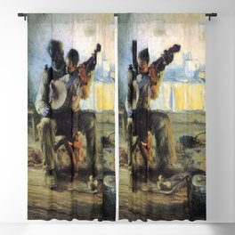 African American Masterpiece 'The Banjo Lesson' by Henry Ossawa Tanner Blackout Curtain