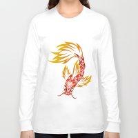 koi fish Long Sleeve T-shirts featuring Koi Fish by Dani Rose
