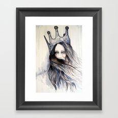 Snow Storm // Fashion Illustration Framed Art Print