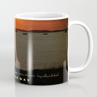cape cod Mugs featuring cape cod bay sunset by marie grady palcic