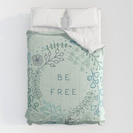BE FREE - light blue Comforters