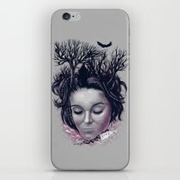 laura palmer iPhone & iPod Skins featuring Laura by Jorge Garza