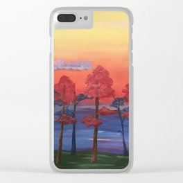 """Golden Autumn Sunsets"" Clear iPhone Case"