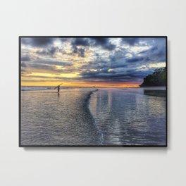 The Surfer Loses Sun Metal Print