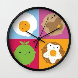 Kawaii Breakfast Wall Clock