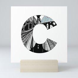 The letter C Mini Art Print