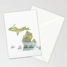 Ships Along the Shore - Michigan circa 1868 Stationery Cards