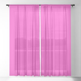 Bright neon pink color Sheer Curtain