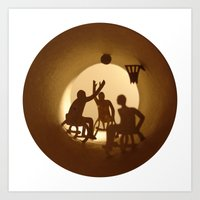basketball Art Prints featuring Basketball by Anastassia Elias