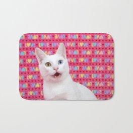 Happy Valentine's Day Kitten Bath Mat