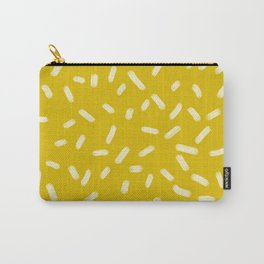 Mustard Yellow Brush Strokes Carry-All Pouch