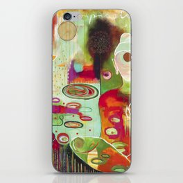 """Rooted In Love"" Original Painting by Flora Bowley iPhone Skin"
