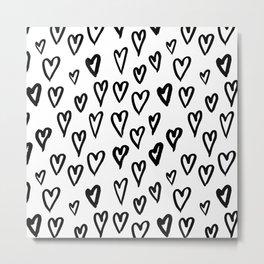 Hearts Pattern 01 Metal Print