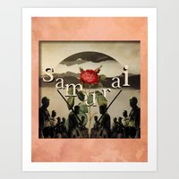 samurai Art Prints featuring samurai by Rosa Picnic