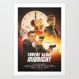 Threat Level Midnight Art Print