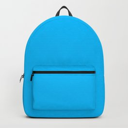color deep sky blue Backpack