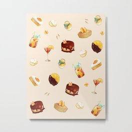 Orange Desserts Metal Print