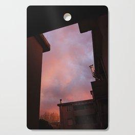 Pink Sunset - Spot the Face Cutting Board