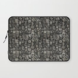 Ancient Stone Wall Patterndesign, pattern, stone, rock, archaeological, pre-columbian, medieval, pat Laptop Sleeve