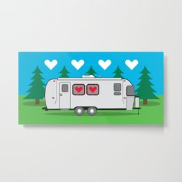 Love is in the Airstream Metal Print