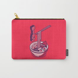 Japanese Ramen Isometric Minimal - Solid Red Carry-All Pouch