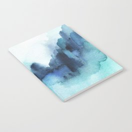 Wonderful blues Abstract watercolor Notebook