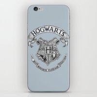 hogwarts iPhone & iPod Skins featuring Hogwarts by Cécile Pellerin