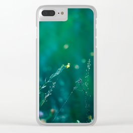Fairy Tail - Flower on the Water - Magic Grass Clear iPhone Case