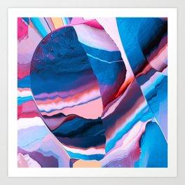 Crystalized Mirror Art Print