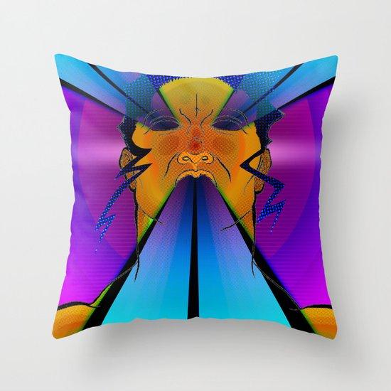 LAZER FACE Throw Pillow