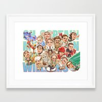 robin williams Framed Art Prints featuring Robin Williams by Arashi.C