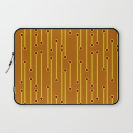 Dotted Lines in Mustard, Burgundy and Spicy Orange Laptop Sleeve