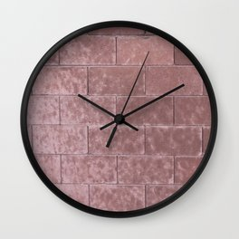 Brick Wall No. 2 Wall Clock