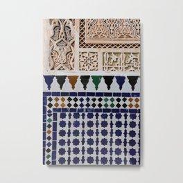 Moroccan Tile Metal Print