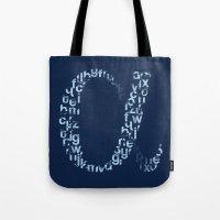 alphabet Tote Bags featuring Alphabet by Erik Sandi Satresa