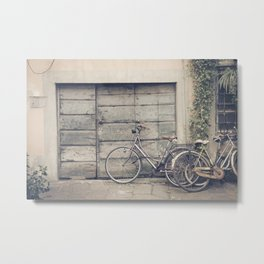 bikes in lucca  Tuscany Italy Metal Print