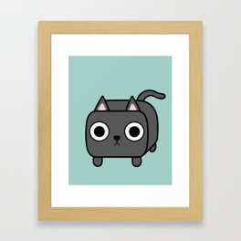 Cat Loaf - Grey Kitty Framed Art Print