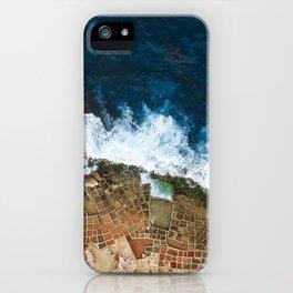 An aerial shot of the Salt Pans in Marsaskala Malta iPhone Case