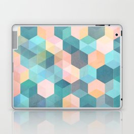 Child's Play 2 - hexagon pattern in soft blue, pink, peach & aqua Laptop & iPad Skin