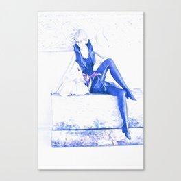 ELEGANT 1920 STYLE STATUETTE  Canvas Print