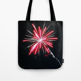 RED FIREWORK Tote Bag