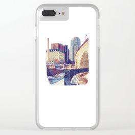 Stone Arch Bridge-Minneapolis, Minnesota Clear iPhone Case