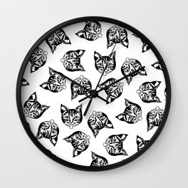 Black Mollycats Wall Clock