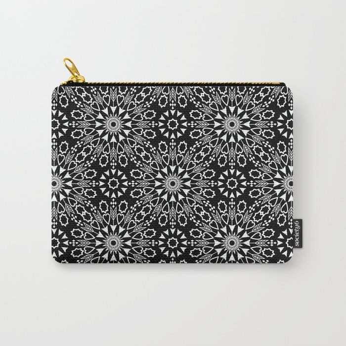 Oriental, ornament, black and white. Carry-All Pouch