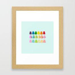 Gummi Bear Rainbow Framed Art Print