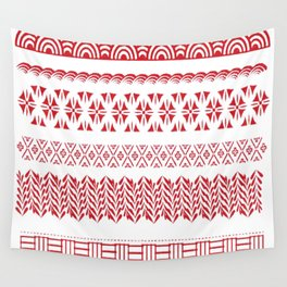 red fabric japan Wall Tapestry