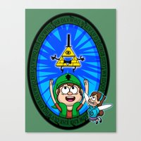 gravity falls Canvas Prints featuring Gravity Falls: Hyrule Falls by Macaluso