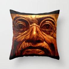 Gandhi - into the face Throw Pillow